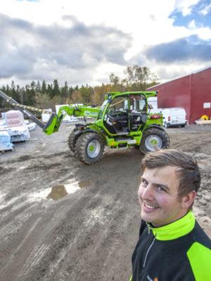 Riktigt rolig maskin att köra, tycker Patrik Dahlgren.