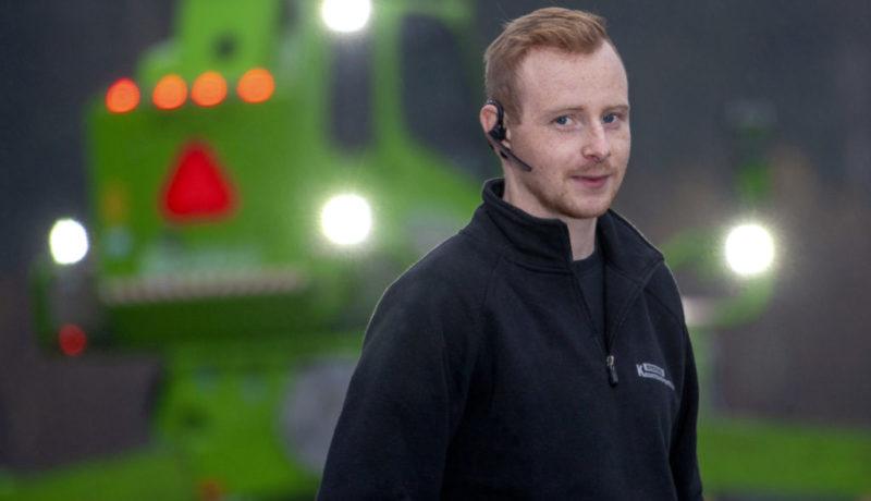 """Jimmy Vesterberg, teleskoplastarförare med blick för """"omöjliga"""" uppdrag."""